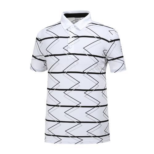 [와이드앵글] 남성 클럽스칸딕 패턴 티셔츠 WMM19255W2