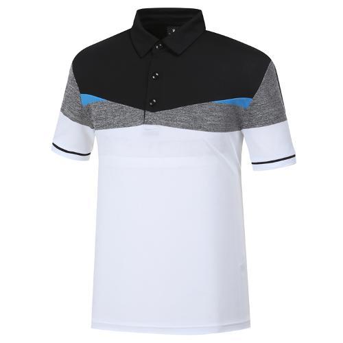 [와이드앵글] 남성 변형 배색 티셔츠 1 WMM19240W2