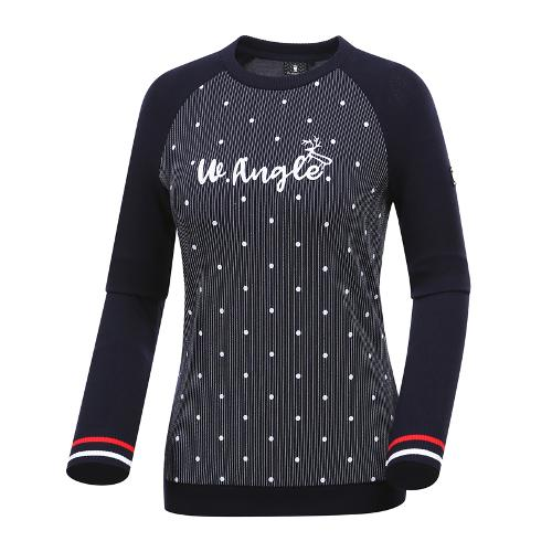 [와이드앵글] 여성 하이브리드형 풀오버 티셔츠 WWP19232N4