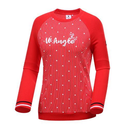 [와이드앵글] 여성 하이브리드형 풀오버 티셔츠 WWP19232R2