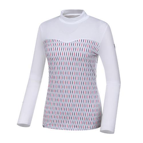 [와이드앵글] 여성 W.아이스 냉감긴팔 패턴믹스 티셔츠 WWM19241W2