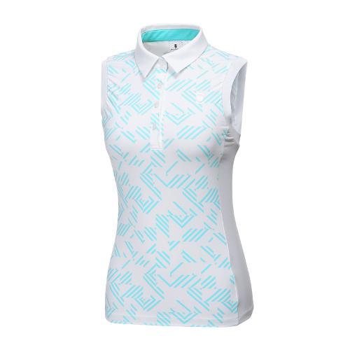 [와이드앵글] 여성 브로큰 패턴 프린트 슬리브리스 WWM18225G2
