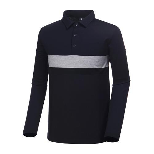 [와이드앵글] 남성 소재 믹스 뎅깡 티셔츠 WMP19235N4