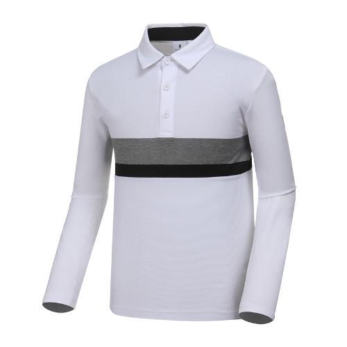 [와이드앵글] 남성 소재 믹스 뎅깡 티셔츠 WMP19235W2