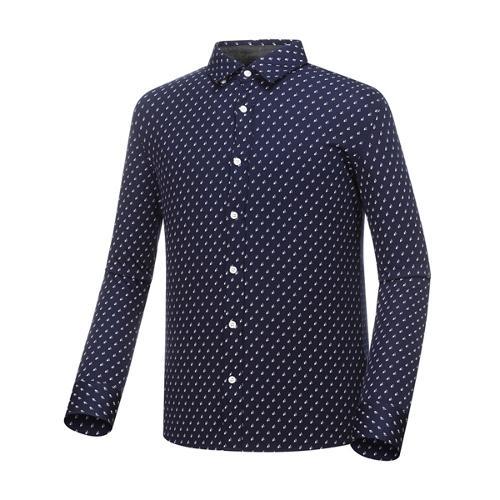 [와이드앵글] 남성 SCANDIC 패턴 져지 긴팔 셔츠 WMP18433N4