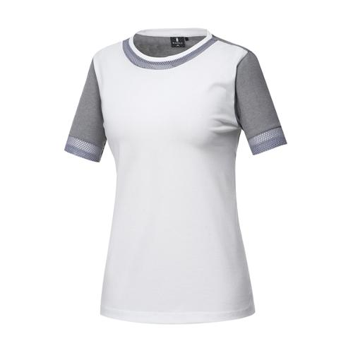 [와이드앵글] 여성 메쉬 패치 라운드 티셔츠 WWM17275W3