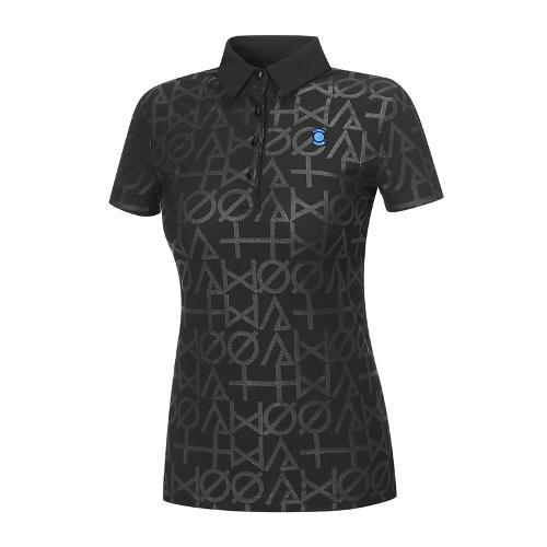 [와이드앵글] 여성 클럽스칸딕 프린트 카라 티셔츠 WWM18256Z1
