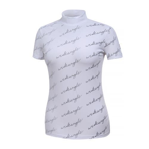 [와이드앵글] 여성 그라데이션 프린트 하이넥 티셔츠 WWM19238W2