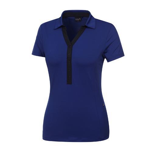 [와이드앵글] 여성 클럽스칸딕 넥변형 카라티셔츠 WWM19247B6