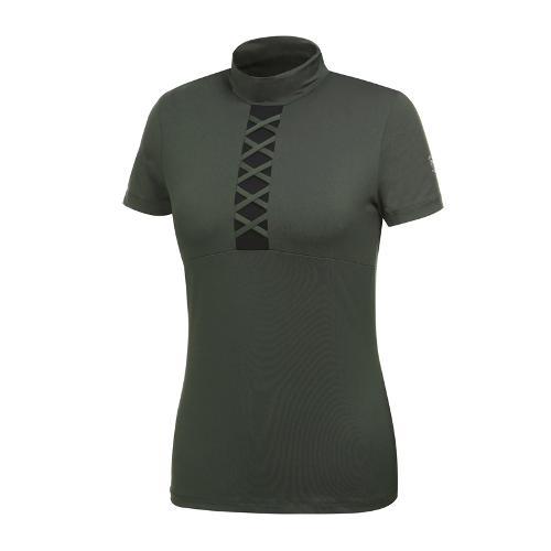 [와이드앵글] 여성 스트링 포인트 하이넥 티셔츠 WWM19211K7