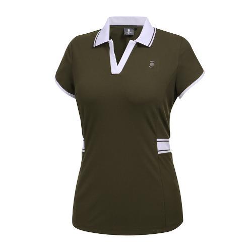 [와이드앵글] 여성 변형소매 카라 티셔츠 WWM19233K7