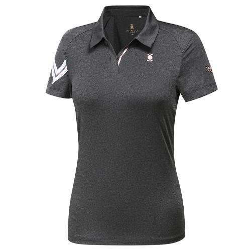 [와이드앵글] 여성 W리미티드 펀칭믹스 변형카라 티셔츠 WWM19216C8