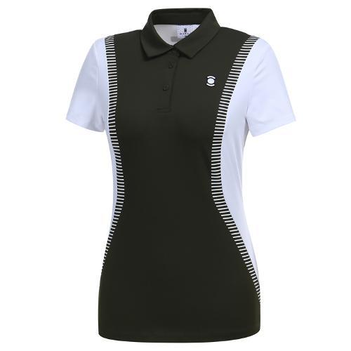 [와이드앵글] 여성 컬러블럭 카라 티셔츠1 WWM19207K7