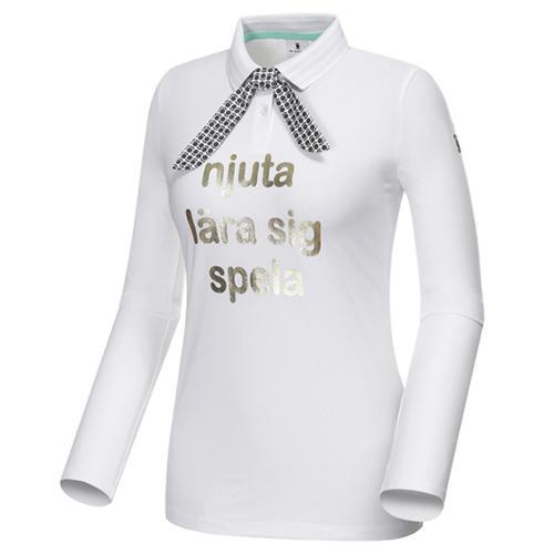 [와이드앵글] 스카프 SET 카라 긴팔 티셔츠 WWP18235W3