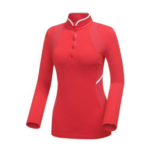 [와이드앵글] 여성 소재믹스 변형카라 티셔츠 WWP18206R2