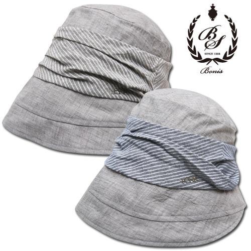 [보니스 골프] 순면 스트라이프 배색 여성 버킷 모자/골프모자_246191
