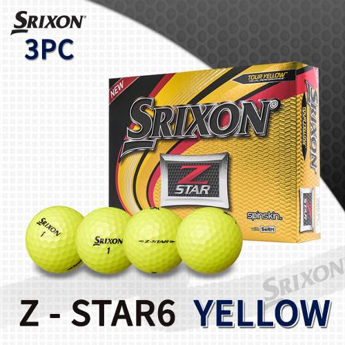 던롭 스릭슨 Z-STAR6 3피스 옐로우 골프볼 골프공