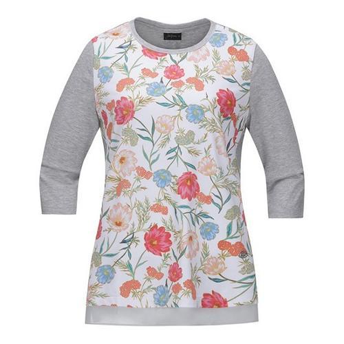 [JACKNICKLAUS] 여성 플로럴 믹스 7부 티셔츠_LWTAS19101GYX