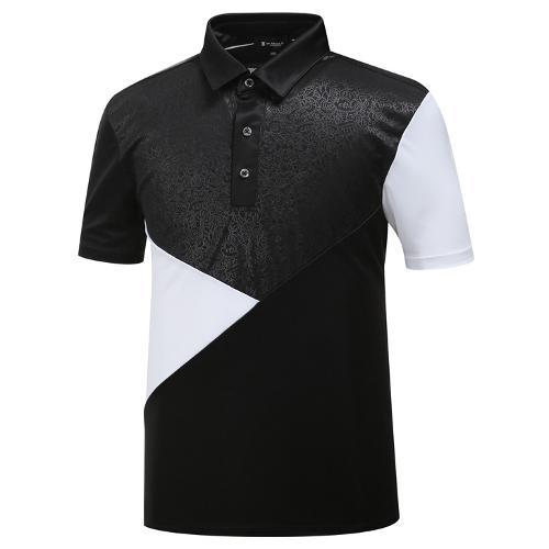 [와이드앵글] 남성 JAPAN 면블럭 새틴 티셔츠 WMM19272Z1