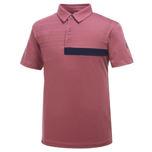 [와이드앵글] 남성 간절 자카드 믹스 보더 티셔츠 WMU19231P9
