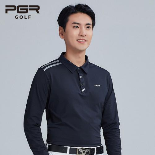 PGR GOLF 남성 스판소재 카라 긴팔티셔츠 - GT-3240
