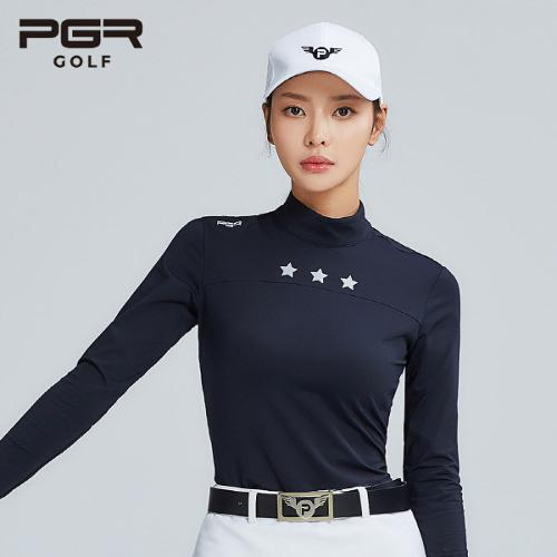 PGR GOLF 여성 스판소재 목폴라 긴팔티셔츠 - GT-4234