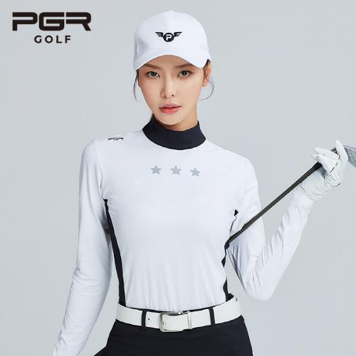 PGR GOLF 여성 스판소재 목폴라 긴팔티셔츠 - GT-4235