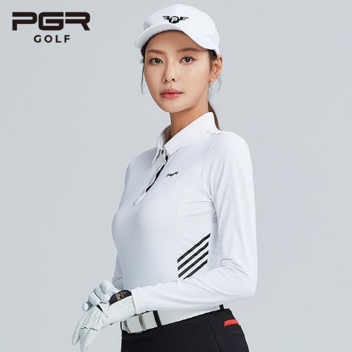 PGR GOLF 여성 스판소재 카라 긴팔티셔츠 - GT-4237