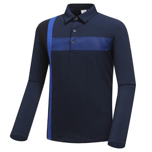 [와이드앵글] 남성 변형 배색 긴팔 티셔츠 2 WMW19202N4