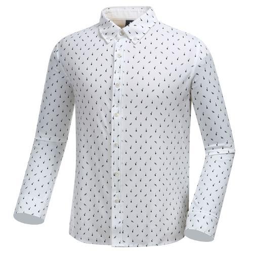 [와이드앵글] 남성 잔 패턴 져지 긴팔 셔츠 WMU19431W3