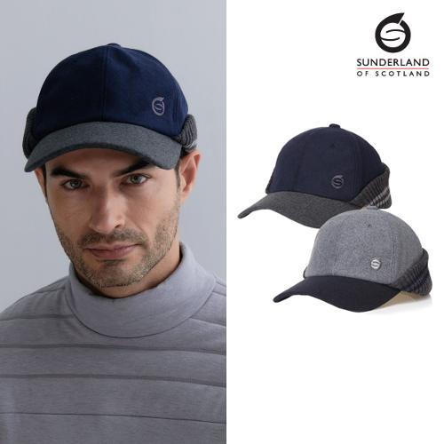 선덜랜드 남성 방한 모직 귀마개 모자 - 16941CP52