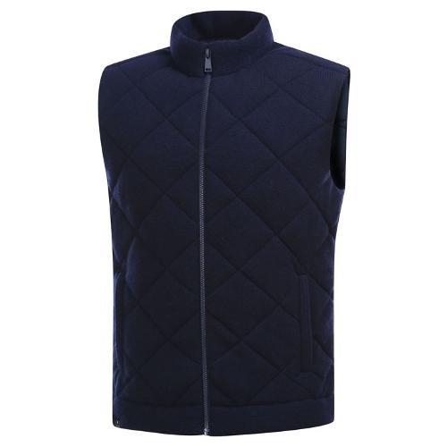 [와이드앵글] 남성 울혼방 스웨터 패딩 베스트 WMW19K36N4