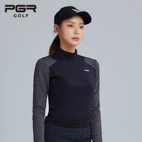 PGR GOLF 여성 스판 목폴라 긴팔티셔츠 - GT-4230