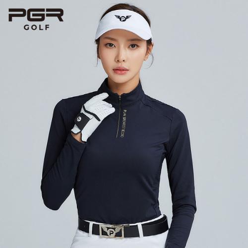 PGR GOLF 여성 스판 하이넥 긴팔티셔츠 - GT-4232