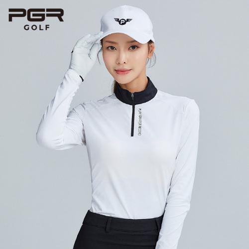 PGR GOLF 여성 스판 하이넥 긴팔티셔츠 - GT-4233
