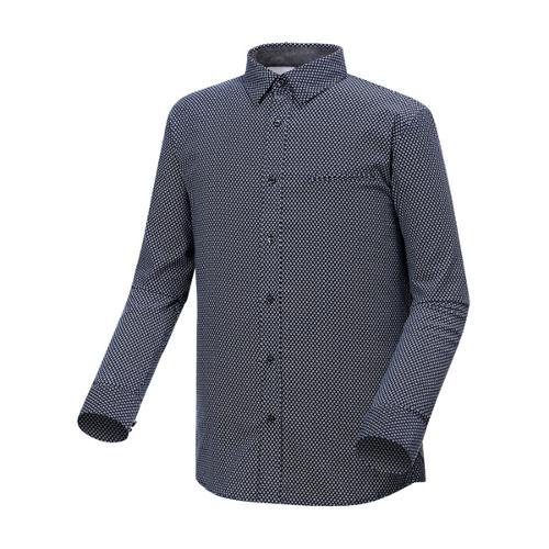 [와이드앵글] 남성 스트레치 코듀로이 긴팔 셔츠 (NAVY) WMU17475N4