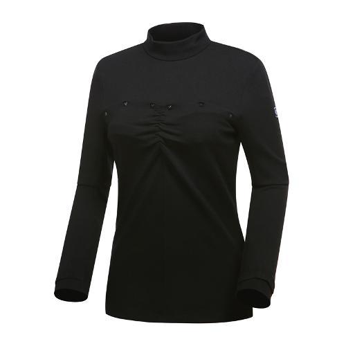 [와이드앵글] 여성 클럽스칸딕 셔링포인트 반넥 긴팔 티셔츠 WWU18243Z1