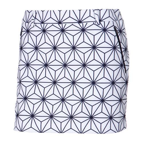 [와이드앵글] 여성 눈꽃모티브 패턴 큐롯 WWU16Q05W3