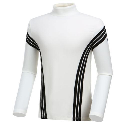 [와이드앵글] 남성 클럽스칸딕 반넥 긴팔 티셔츠 WMW19235W5