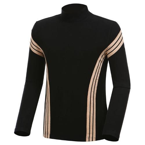 [와이드앵글] 남성 클럽스칸딕 반넥 긴팔 티셔츠 WMW19235Z1