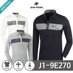 [JEAN PIERRE] 잔피엘 자수 기모 카라 티셔츠 Model No_J1-9E270
