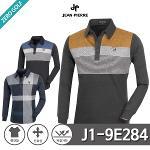 [JEAN PIERRE] 쟌피엘 니트카라 삼배색 PK 긴팔티셔츠 Model No_J1-9E284