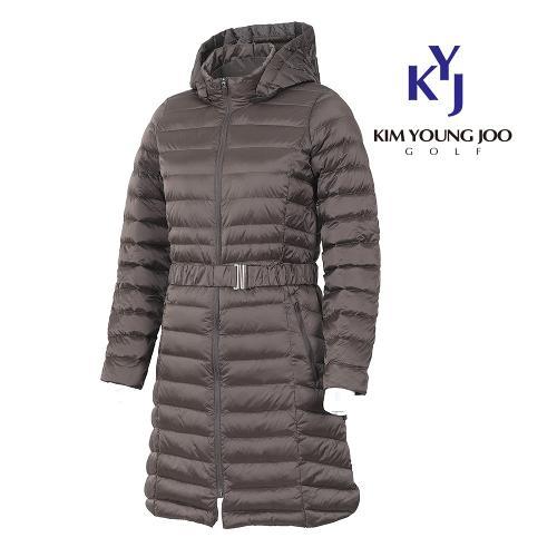 [김영주골프] 겨울 밸트 여성 롱다운 점퍼 GHWLQJ51