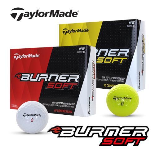 [2020년형]테일러메이드코리아정품 BURNER SOFT 버너 소프트 2피스 골프볼-12알(화이트/옐로우)