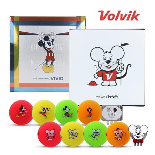 [2020년신제품]볼빅 VIVID 비비드 미키마우스 골프볼[4알+볼마커]/VIVID 비비드 경자년 골프볼[4알+볼마커]