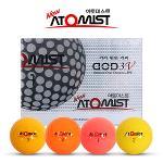 [폭발적인비거리20%증가]아토미스트 DOD 3.C 332딤플 4색칼라 3피스 골프볼-12알
