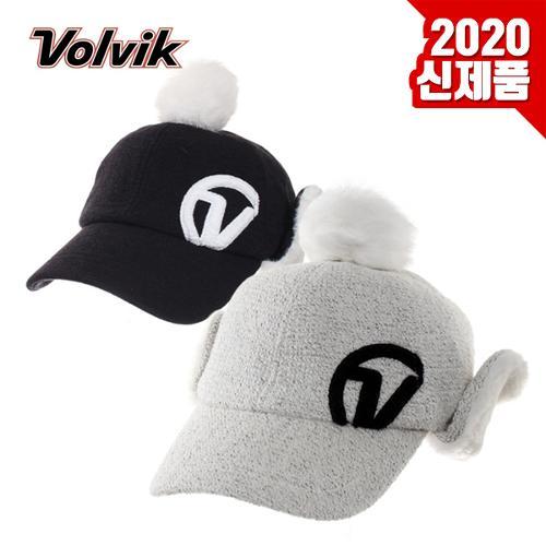 [2020년신제품]볼빅 VAHF 겨울용 방한 토끼털 방울 귀달이캡 골프모자