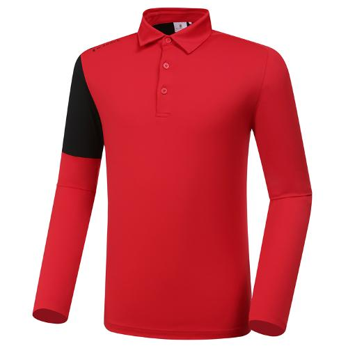 [와이드앵글] 남성 배색 포인트 카라 티셔츠 M WMP20202R2
