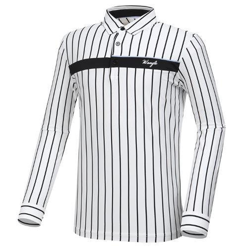 [와이드앵글] 남성 버티컬 스트라이프 티셔츠 M WMP20235W2