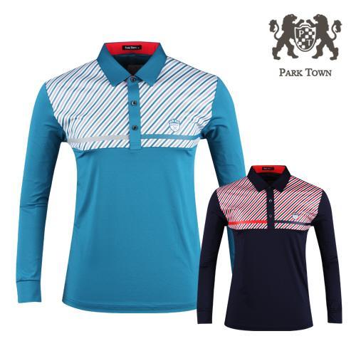 파크타운 남성 배색 카라  골프셔츠 RM20S405